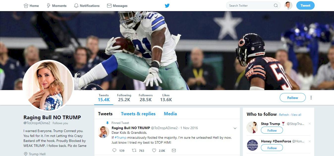 Screenshot: Twitter - Raging Bull Profile