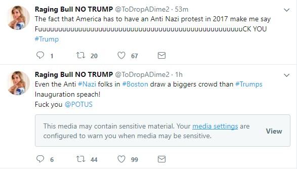Screenshot: Twitter - Raging Bull Sensitive Media Blocked
